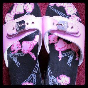 Vintage Pink Paris Poodle Dr. Scholls Slides 7